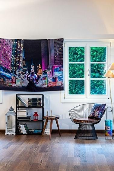 home-bath Duvar Örtüsü Cyberpunk Renkli